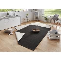 Kusový koberec Twin-Wendeteppiche 103096 schwarz creme