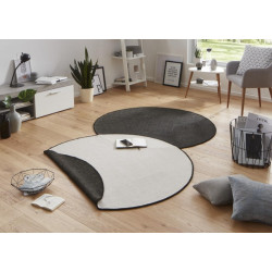 Kusový koberec Twin-Wendeteppiche 103096 schwarz creme kruh