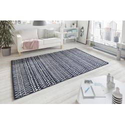 Kusový koberec Madison 102780 Dunkelblau Weiß