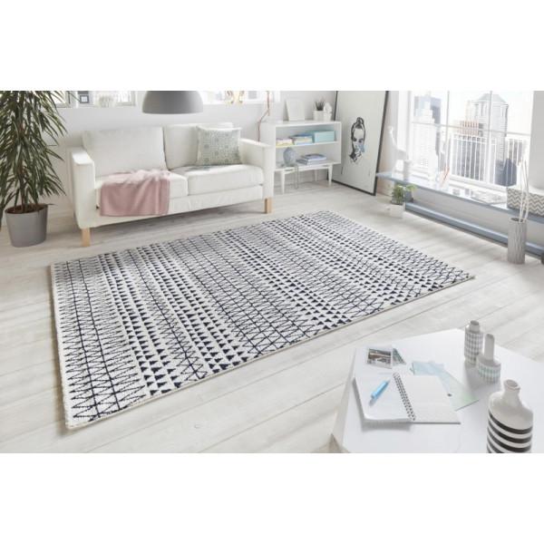 Mint Rugs - Hanse Home koberce Kusový koberec Madison 102779 Schwarz Creme, koberců 160x230 cm Bílá - Vrácení do 1 roku ZDARMA