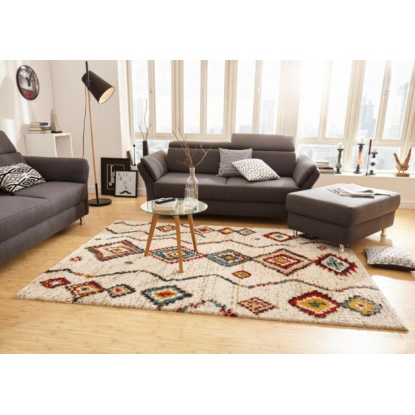 Kusový koberec Nomadic 102693 Geometric Creme, koberců 80x150 cm Béžová - Vrácení do 1 roku ZDARMA