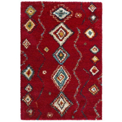 Kusový koberec Nomadic 102692 Geometric Rot