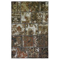Ručně tkaný bavlněný koberec Uttarpradesh Masala