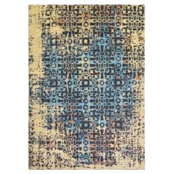 Ručně tkaný bavlněný koberec Coffee Drops