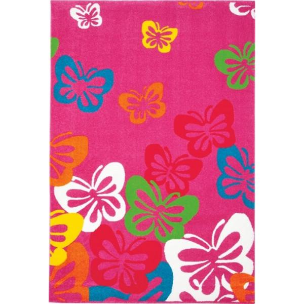 Tulipo koberce Kusový koberec Kiddy 08RCR, 80x150 cm% Růžová - Vrácení do 1 roku ZDARMA vč. dopravy
