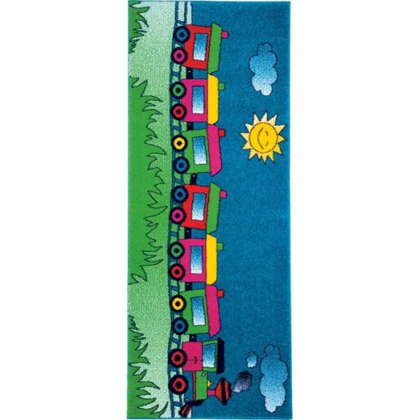 Tulipo koberce Kusový koberec Kiddy 12AKK, 80x200 cm% Modrá - Vrácení do 1 roku ZDARMA vč. dopravy
