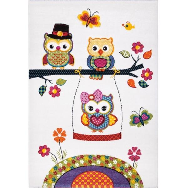 Tulipo koberce Kusový koberec Kiddy 20740/60, koberců 120x170 cm Bílá - Vrácení do 1 roku ZDARMA
