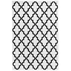 Kusový koberec Black and White 391 White