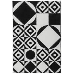 Kusový koberec Black and White 394 Black