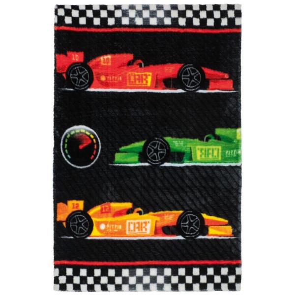 Obsession koberce Dětský kusový koberec Lollipop 183 Race, koberců 90x130 cm Černá - Vrácení do 1 roku ZDARMA