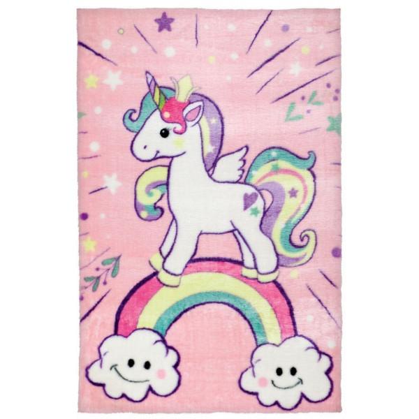 Obsession koberce Dětský kusový koberec Lollipop 185 Unicorn, koberců 90x130 cm Růžová - Vrácení do 1 roku ZDARMA