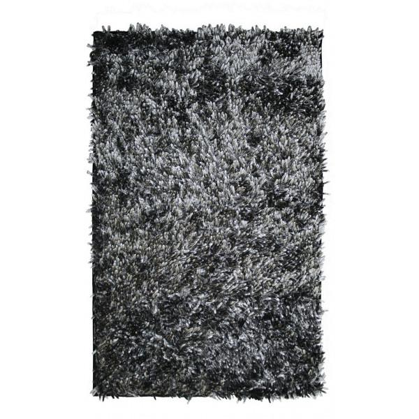 BO-MA koberce Koupelnová předložka RASTA MICRO NEW černá (je však světle černá až šedá), kusových koberců 50x80 cm% Černá - Vrácení do 1 roku ZDARMA vč. dopravy