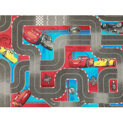 Dětský kusový koberec CARS III (Auta)