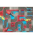 Dětský kusový koberec CARS III Streetmap (Auta)
