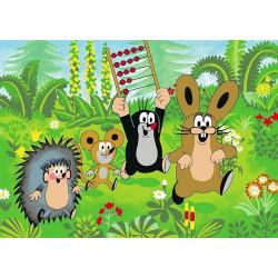 Dětský kusový koberec Krteček a přátelé