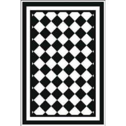 Kusový koberec Princess Royal Black & White RoyalLine-03