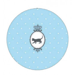 Kusový koberec Princess Royal Kids Miezi-02 Cute Blue kruh