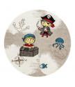 Dětský kusový koberec Momo K11558-01 Coffee kruh