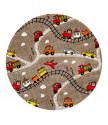 Kusový koberec Momo K11562-05 Coffee kruh