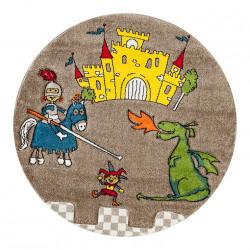 Kusový koberec Momo K11564-05 Coffee kruh