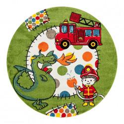 Kusový koberec Momo K11566-08 Green kruh