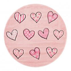 Kusový koberec Momo K11574-09 Pink kruh