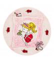 Dětský kusový koberec Momo K11568-09 Pink kruh