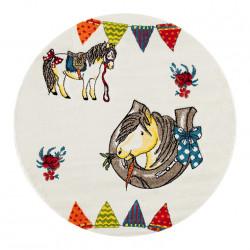 Kusový koberec Momo K11570-01 Beige kruh