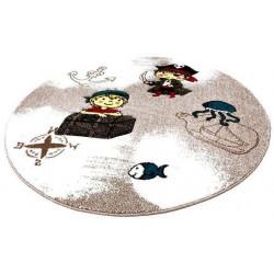 Kusový koberec Momo K11558-01 Coffee kruh