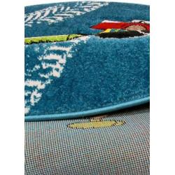 Kusový koberec Momo K11560-07 Blue kruh