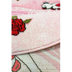 Kusový koberec Momo K11568-09 Pink kruh