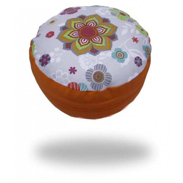 Ing. Klára Patočková - Obchod s radostí Pohankový sedák s mandalou, oranžový, sedáků 12 x 30 cm, Barva Oranžová Oranžová - Vrácení do 1 roku ZDARMA
