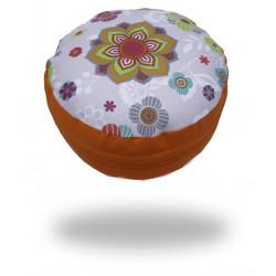 Pohankový sedák s mandalou, oranžový