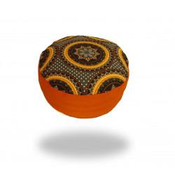 Meditační sedák s oranžovou mandalou, oranžový