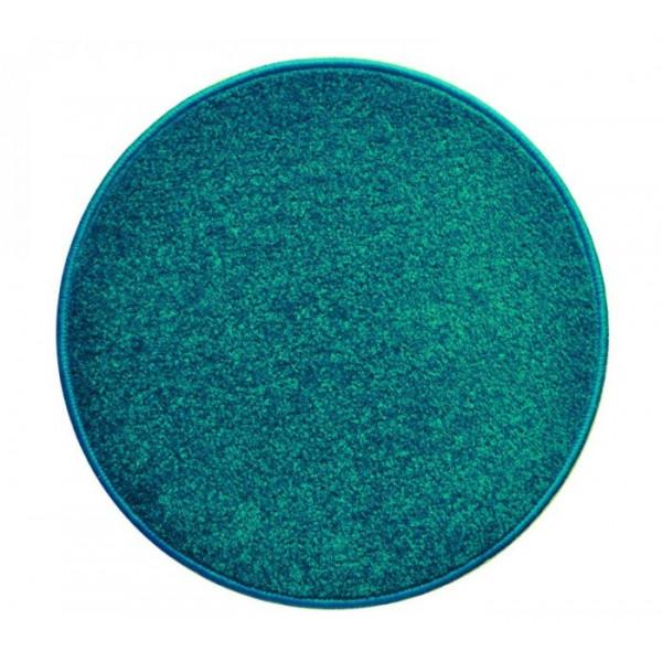 Vopi koberce Eton petrolejový koberec kulatý, kusových koberců 80x80 cm kruh% Zelená - Vrácení do 1 roku ZDARMA vč. dopravy + možnost zaslání vzorku zdarma