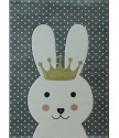 Dětský kusový koberec Smart Kids 22414 Grey