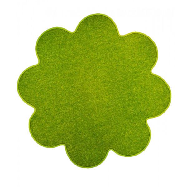 Vopi koberce Květinový koberec Eton zelený, koberců 120x120 cm kruh Zelená - Vrácení do 1 roku ZDARMA