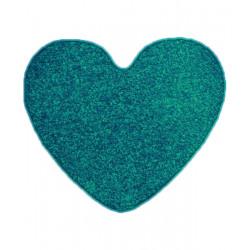 Kusový koberec Eton Srdce petrolejový