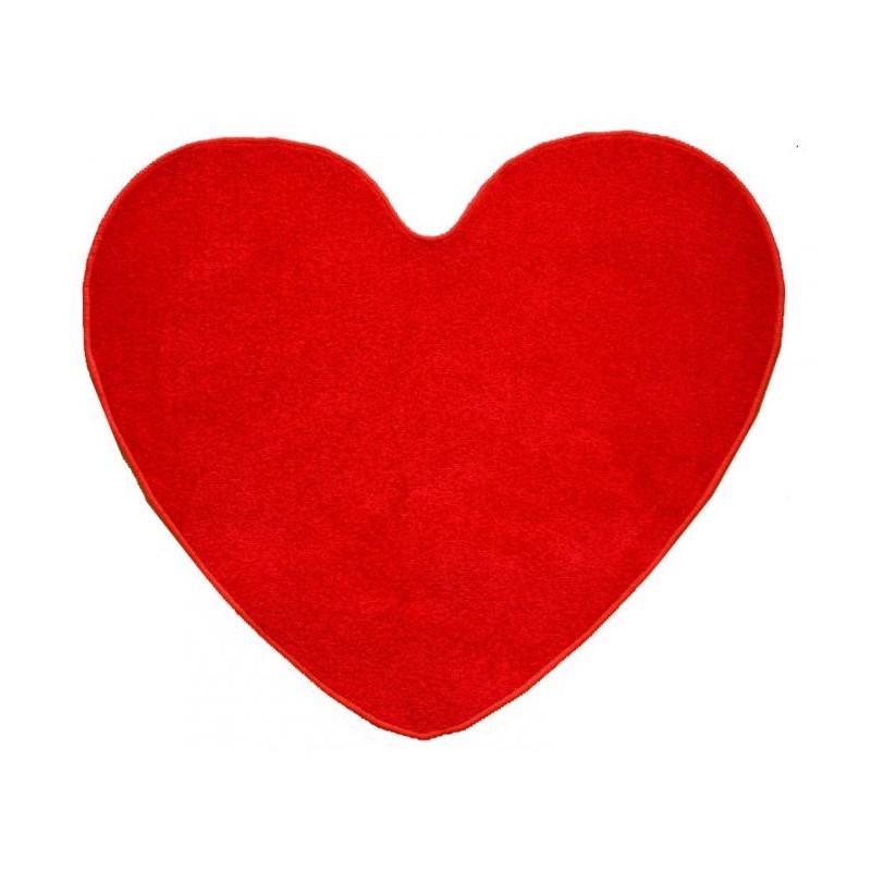 Kusový koberec Eton Srdce červený