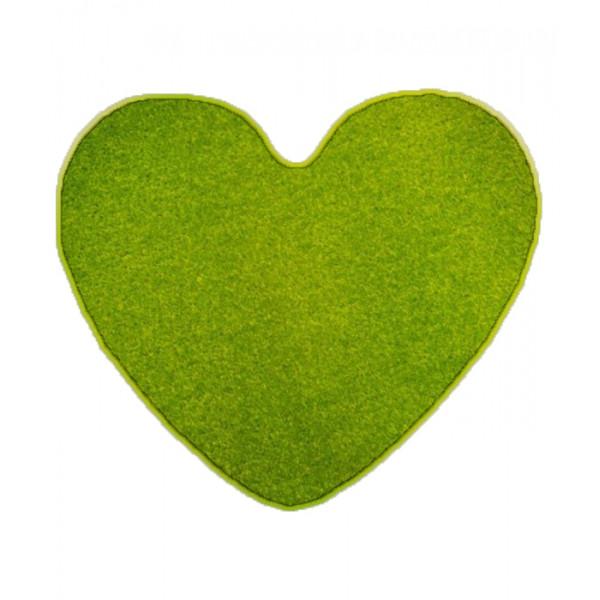 Kusový koberec Eton Srdce zelený