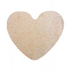 Kusový koberec Eton Srdce béžový