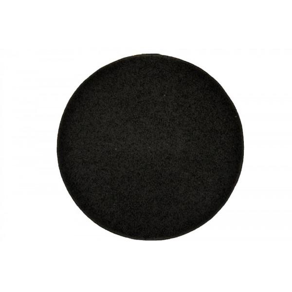 Vopi koberce Kusový kulatý koberec Color Shaggy antra, koberců 80x80 cm kruh Černá - Vrácení do 1 roku ZDARMA