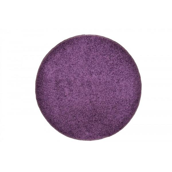 Vopi koberce Kusový kulatý koberec Color Shaggy fialový, koberců 80x80 cm kruh Fialová - Vrácení do 1 roku ZDARMA