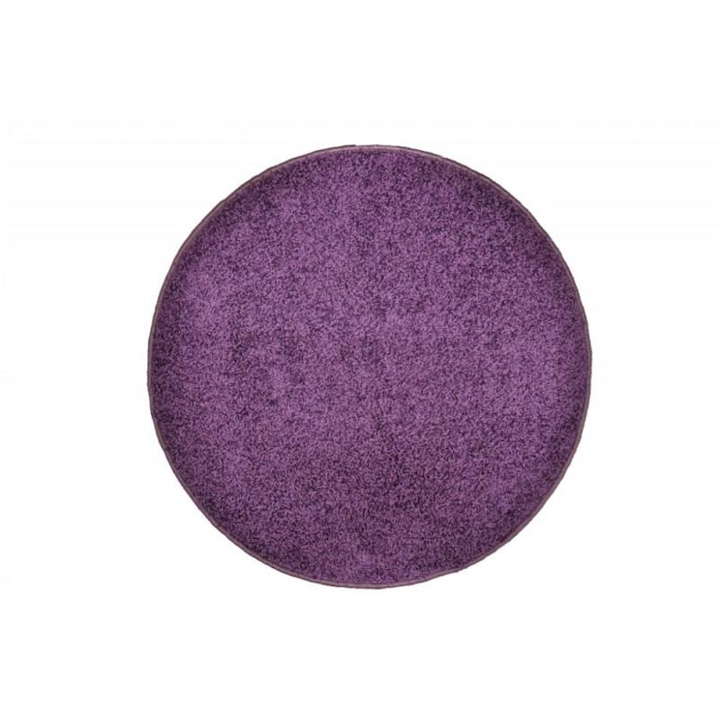 Kusový kulatý koberec Color Shaggy fialový