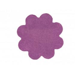 Kusový koberec Color Shaggy fialový kytka