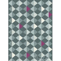 Kusový koberec Fika 78257 Antracit / Bordo