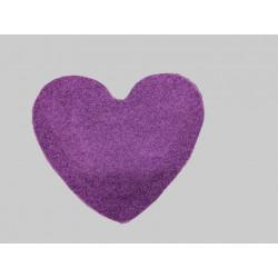Kusový koberec Color Shaggy fialový srdce