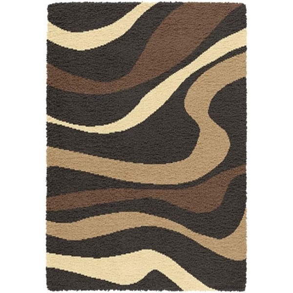 Vopi koberce Kusový koberec Expo Shaggy 5668-436, 80x150 cm% Hnědá - Vrácení do 1 roku ZDARMA vč. dopravy