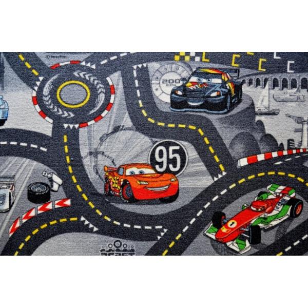 Vopi koberce Kusový koberec The World of Cars 97 šedý, koberců 200x200 cm Šedá - Vrácení do