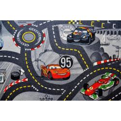Kusový koberec The World of Cars 97 šedý